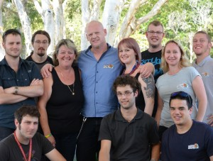 Jarryd and his team at Redcliffe youth Space