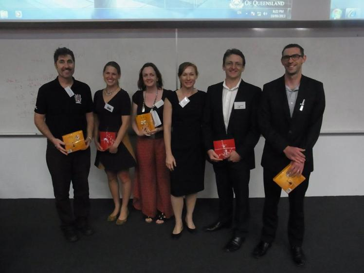 In excellent company at the UQ Post Grad presentation (2nd from left)