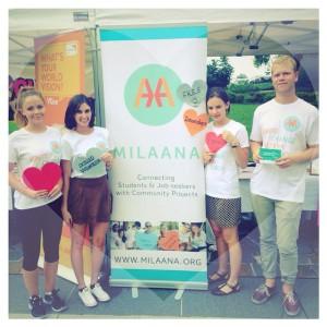 Sharing the Milaana love at O-Week